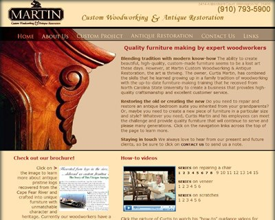 Furniture Websites on Bluetone Media   Custom Websites